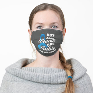 PTSD Awareness Not All Wounds Are Visible Adult Cloth Face Mask