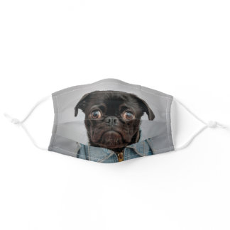 Pug Dad Cute Dog Lover Adult Cloth Face Mask