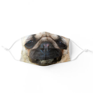 Pug Face Adult Cloth Face Mask