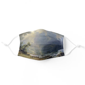Puget Sound Pacific Coast  Bierstadt Painting Adult Cloth Face Mask