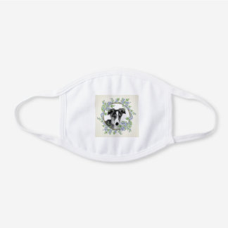 Puppy Perfect White Cotton Face Mask