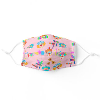 Purim Jewish Holiday Festival Cute Clowns Pattern Adult Cloth Face Mask