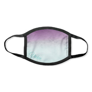 "Purple and Aqua ""Statement"" Abstract Watercolor Face Mask"