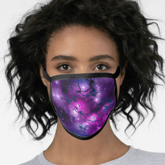 Purple and Black Face Mask
