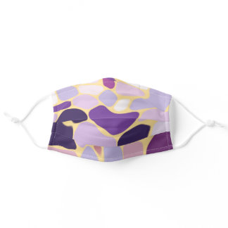Purple and Gold Adult Cloth Face Mask