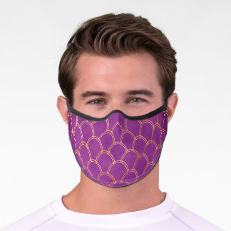 Purple and Gold Premium Face Mask
