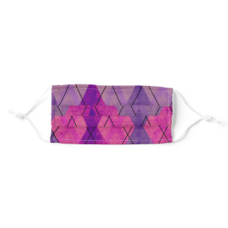 Purple and pink harlequin adult cloth face mask