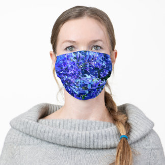 Purple-blue  lilacs | purple floral photo adult cloth face mask