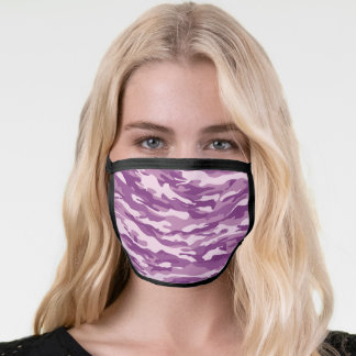 Purple Camo Pattern Face Mask