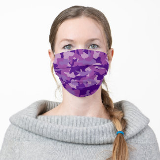 Purple Camouflage Army Military Camo Cloth Face Mask