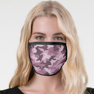 Purple Camouflage Face Mask