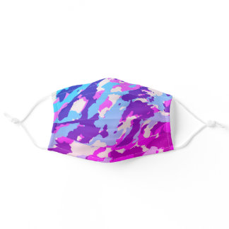 Purple Camouflage Pattern Cute Cool Camo Lovers Adult Cloth Face Mask