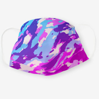 Purple Camouflage Pattern Cute Cool Camo Lovers Cloth Face Mask