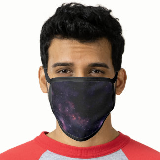 Purple clouds outer space illustration face mask