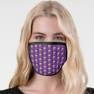 Purple | Gold Tone Grad Cap Class of 2020 Face Mask