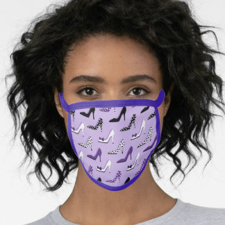 Purple High Heel Lover Fashion Face Mask