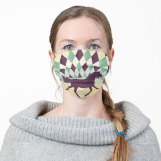 Purple Horse Harlequin Adult Cloth Face Mask