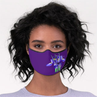 Purple Irises Adult or Child Premium Face Mask