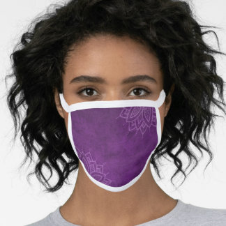 Purple Mandala All-Over Print Cotton & Poly Face Mask