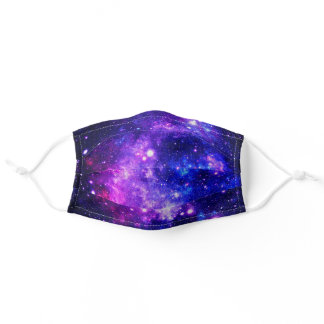 Purple Outer Space Stars Galaxy Adult Cloth Face Mask