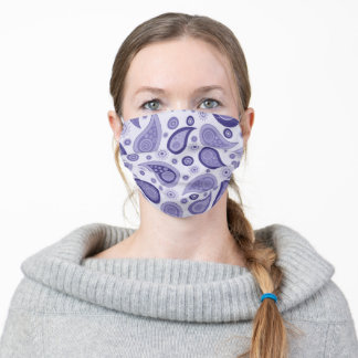 Purple Paisley Face Mask
