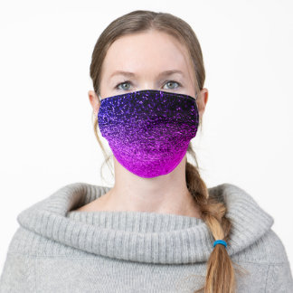 Purple pink glitter sparkle glam ombre teen girls adult cloth face mask