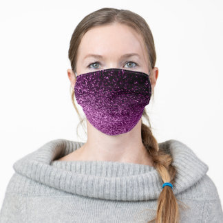 Purple pink glitter sparkle glam teen girls adult cloth face mask