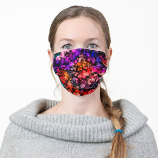 Purple Pink Tiny Bubbles Adult Cloth Face Mask