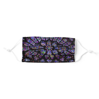 Purple Stained Glass Church Window Adult Cloth Face Mask
