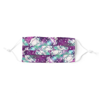 Purple & Teal Abstract Face Mask