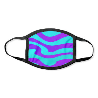 Purple Turquoise Abstract Flowing Design Face Mask