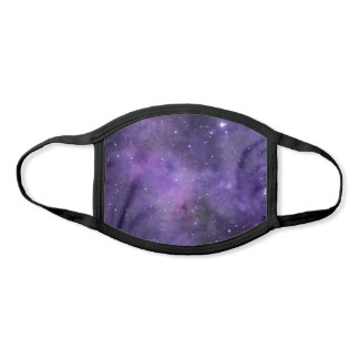 Purple Watercolor Space Galaxy Face Mask