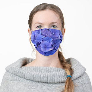 Purplish Blueish flower Adult Cloth Face Mask