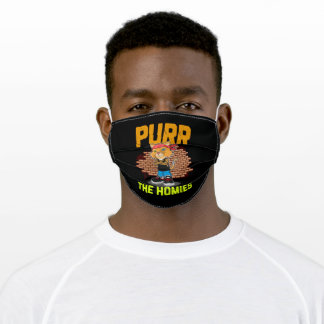 Purr The Homies Adult Cloth Face Mask