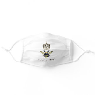 Queen Bee And Crown Adult Cloth Face Mask