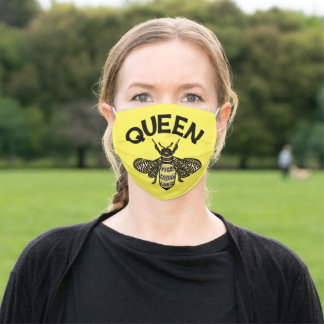 Queen Bee Fancy Decorative BumbleBee Adult Cloth Face Mask