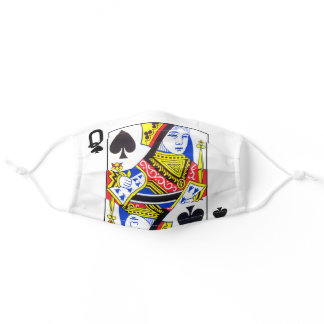 Queen of Spades Playing Card Face Mask