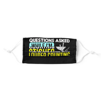 Questions While Counting Stiches Sewing, Knitting Adult Cloth Face Mask