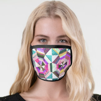Quilt pattern face mask