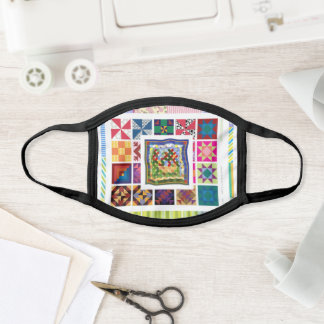 Quilt Pattern Layers Face Mask