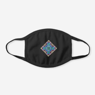 Quilting Square Patchwork Quilter Black Cotton Face Mask