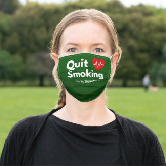 Quit Smoking Adult Cloth Face Mask