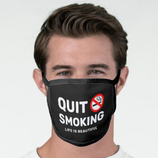 Quit Smoking Motivational Face Mask