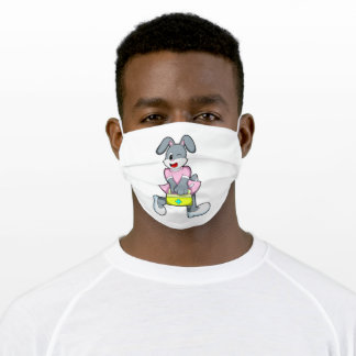Rabbit as Medic with First aid kit Adult Cloth Face Mask