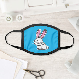Rabbit bunny lucky white fluffy tail long ears face mask
