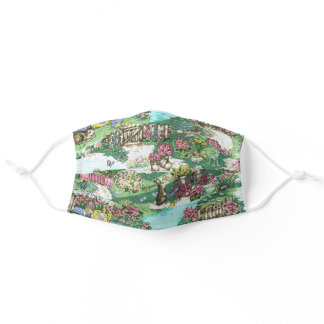 Rabbits In The Garden Women's Comfortable Adult Cloth Face Mask