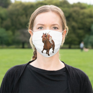 Race Horse Oil Painting Adult Cloth Face Mask