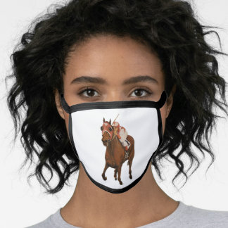 Race Horse Oil Painting Face Mask