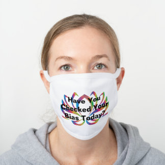 Racial Justice Facemask White Cotton Face Mask