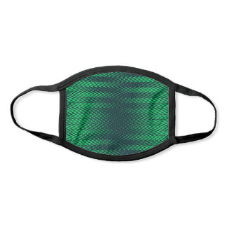 Rad Emerald Green Stripes Trippy Geometric Face Mask